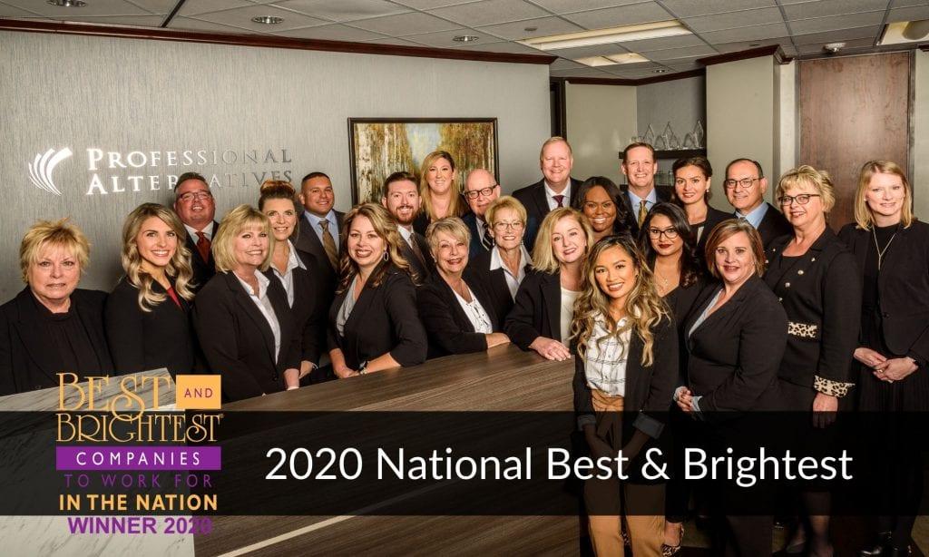 Professional Alternatives Wins 2020 National Best & Brightest Award