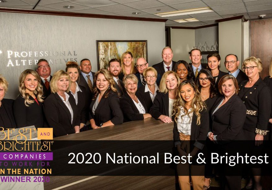 Professional Alternatives Wins 2020 National Best & Brightest Award